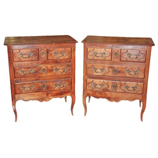 Petite Pair of Provencal Cherry Chests