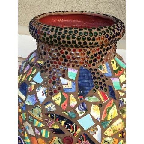Decorative Mosaic Urn - Image 5 of 6