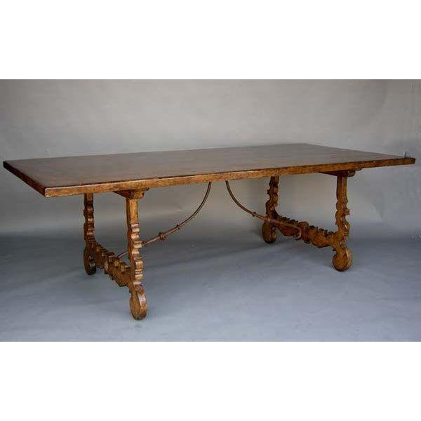 Walnut Lyre Leg Table - Image 2 of 3