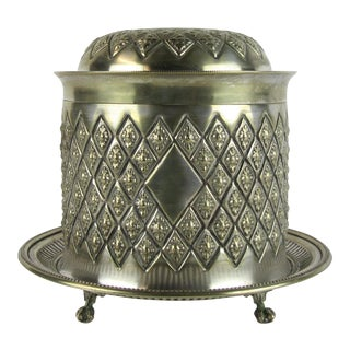 Antique English Silver Plated Tea Caddy