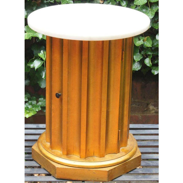 Marble Column Side Table - Image 2 of 11
