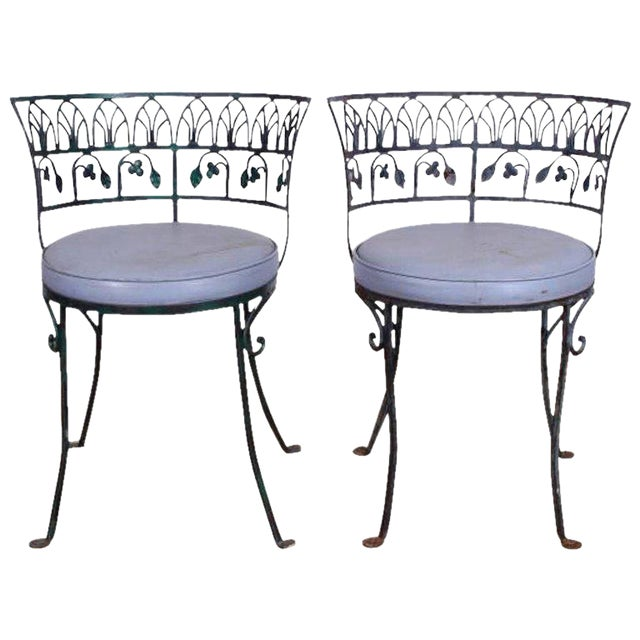 Pair of Grand Tour Style Salterini Garden Chairs, after the Greek Antique - Image 1 of 6