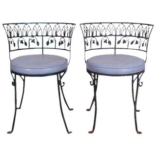Pair of Grand Tour Style Salterini Garden Chairs, after the Greek Antique