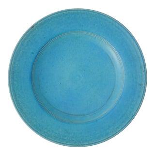 Monumental Cerulean Blue Artisan Pottery Dish