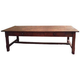 19th Century French Farmhouse Trestle Table