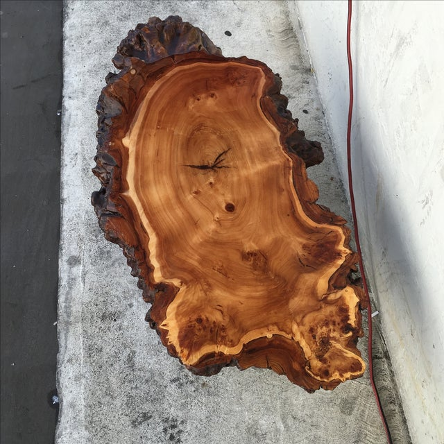 Image of Live Edge Wooden Coffee Table