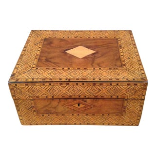Tunbridge Inlaid Box Walnut Burl England