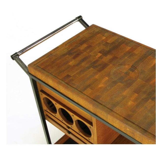 Bill W. Sanders Mid-Century Rolling Bar Cart - Image 6 of 10