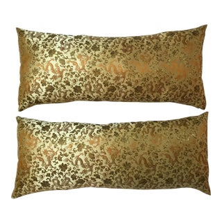 Chinese Silk Pillows - A Pair