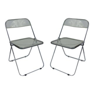Vintage Acrylic Castelli Italy Chairs - Pair