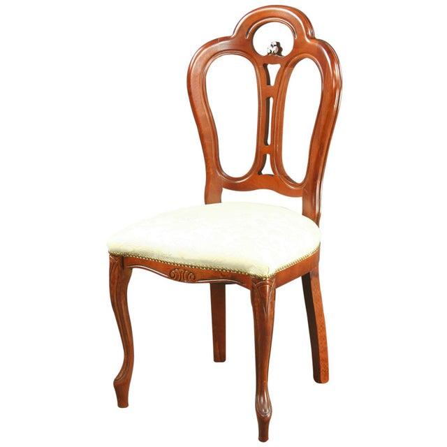 Image of Large, New Italian Mahogany Rococo Dining Chair