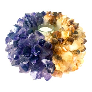 Amethyst Citrine Candle Holder