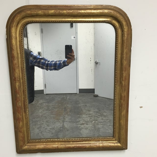 Arched Antique Mirror - Image 3 of 10