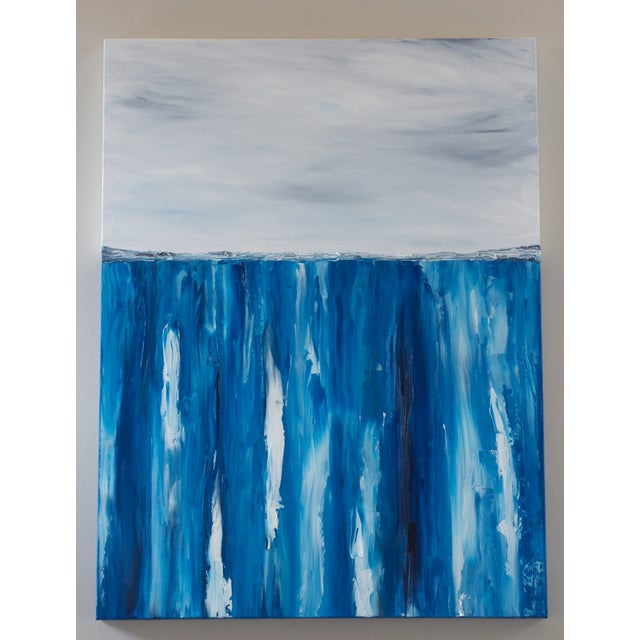 XL Seascape Abstract Oil Painting on Canvas - Image 2 of 3