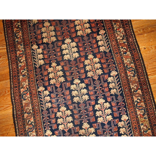 1880s Hand Made Antique Persian Kurdish Rug - 2′10″ × 5′10″ - Image 6 of 6