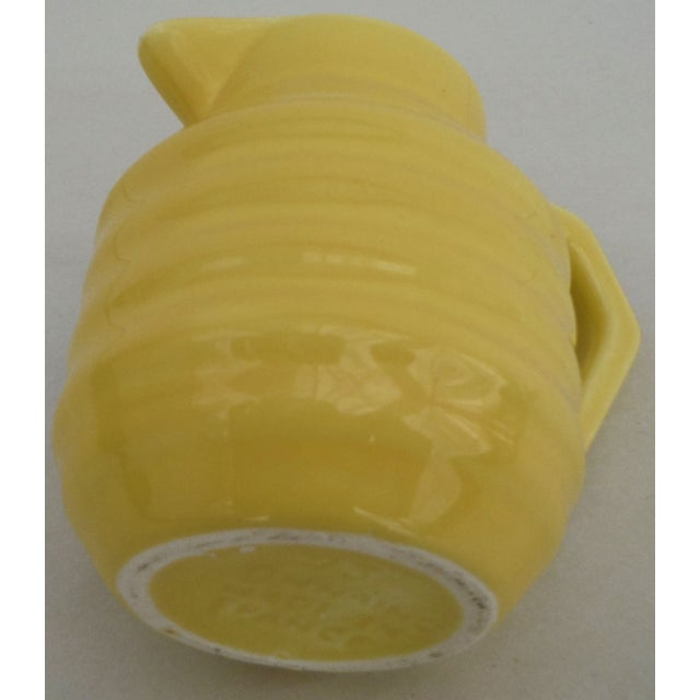 Image of Yellow Majolica Pitcher