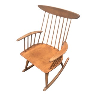 Mid-Century Conant Ball Solid Maple Rocker