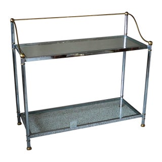 Vintage Chrome & Brass Console