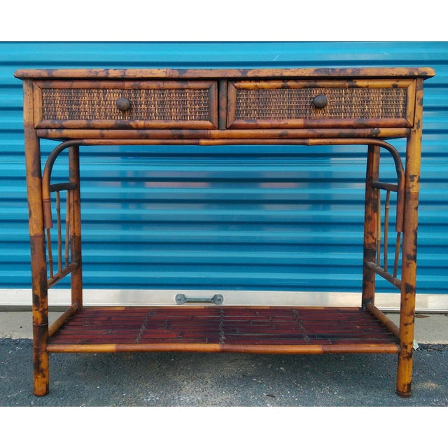 Bamboo & Reed 2-Drawer Console Table - Image 2 of 9