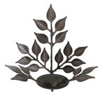 Image of Leaf Candle Sconces - A Pair