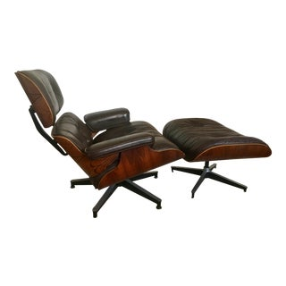 Rosewood Charles Eames for Herman Miller Lounge Chair & Ottoman - A Pair