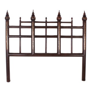 Vintage Queen-Size Indian Headboard