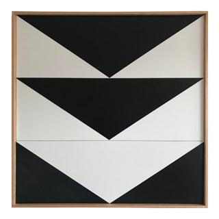 "Jason Trotter Original Acrylic Painting ""Black Arrow Down Triptych JET0502"""