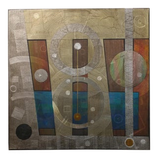 "Geometrical Abstract ""Supraluminous"" Original Oil Painting by Antonio Arellanes"