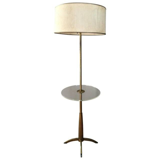 mid century stiffel brass floor lamp chairish. Black Bedroom Furniture Sets. Home Design Ideas