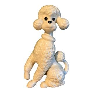 Vintage Ceramic Poodle Statue