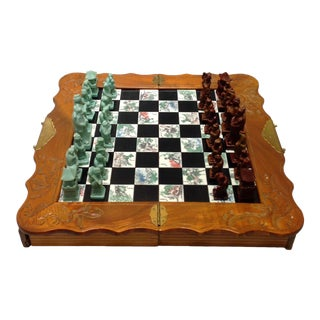 Vintage Folding Japanese Chess Board