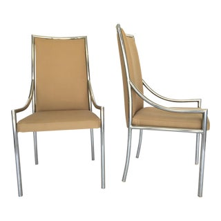 Chrome Dining Chairs After Milo Baughmann - A Pair
