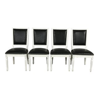 Leather Louis Dining Chairs - Set of 4