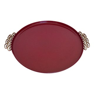 Moire' Glaze Kyes Round Tray