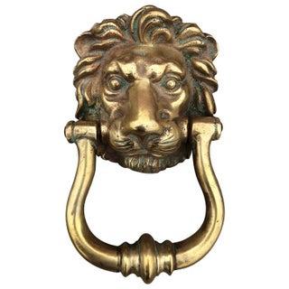 Cast Bronze Lion Door Knocker
