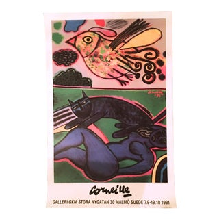 Guilliame Corneille 1991 Exhibition Poster