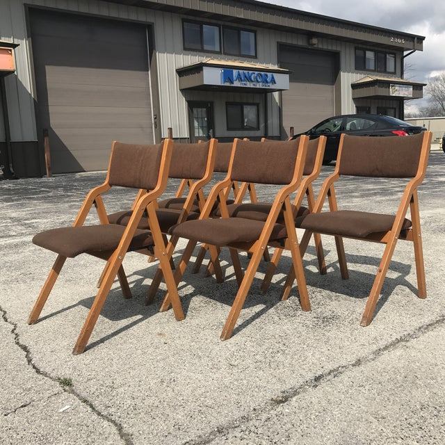 Mid-Century Modern Folding Chairs - Set of 6 - Image 2 of 8