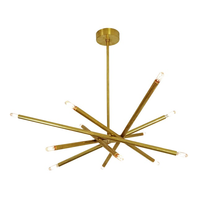 "Model 120 Sculptural Brass ""Nest"" Chandelier by Blueprint Lighting - Image 11 of 13"