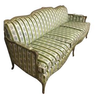 Mid-Century Modern Custom Made Italian Lime Green Sofa