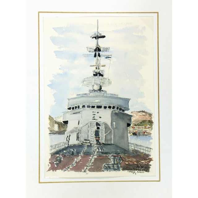Image of Watercolor Painting, Anti-Aircraft Frigate