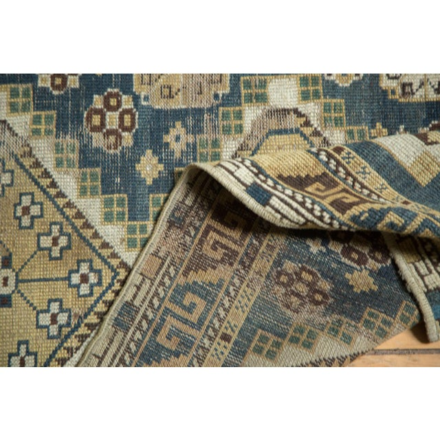 """Vintage Fragmented Caucasian Square Rug - 3'9"""" x 4'8"""" - Image 6 of 7"""