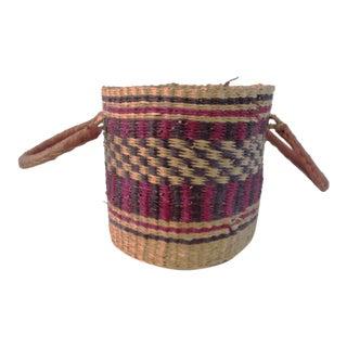 Vintage African Ghanaian Bia Basket