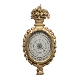 French Louis XVI Giltwood Barometer