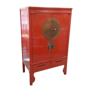 Asian Style Red Cabinet