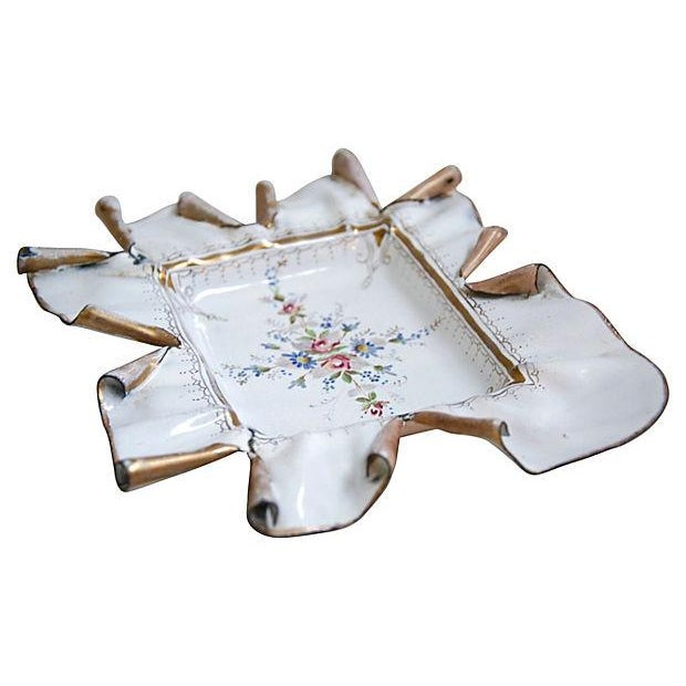 Vintage 1950s French Hand-Painted Catchall Tray - Image 5 of 7