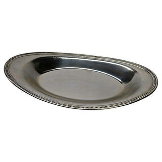 Embossed Silverplate Serving Tray
