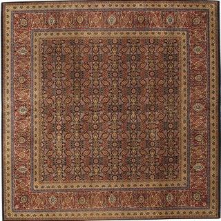 Pasargad Ny Persian Tabriz Herati Design Lamb's Wool Rug - 9'x 12'