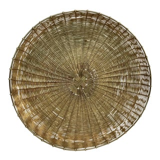 Vintage Woven Brass Tray