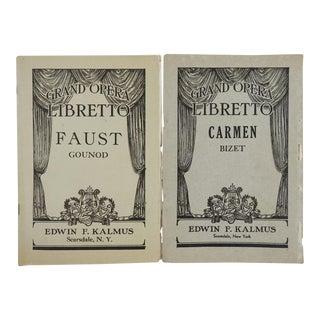 Grand Opera Carmen & Faust Programs - A Pair
