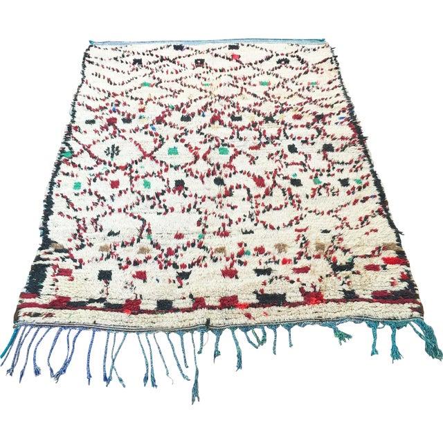 """Vintage Moroccan Wool Rug - 5' x 6'10"""" - Image 1 of 4"""